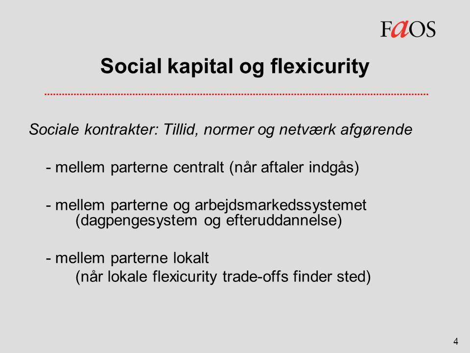 Social kapital og flexicurity