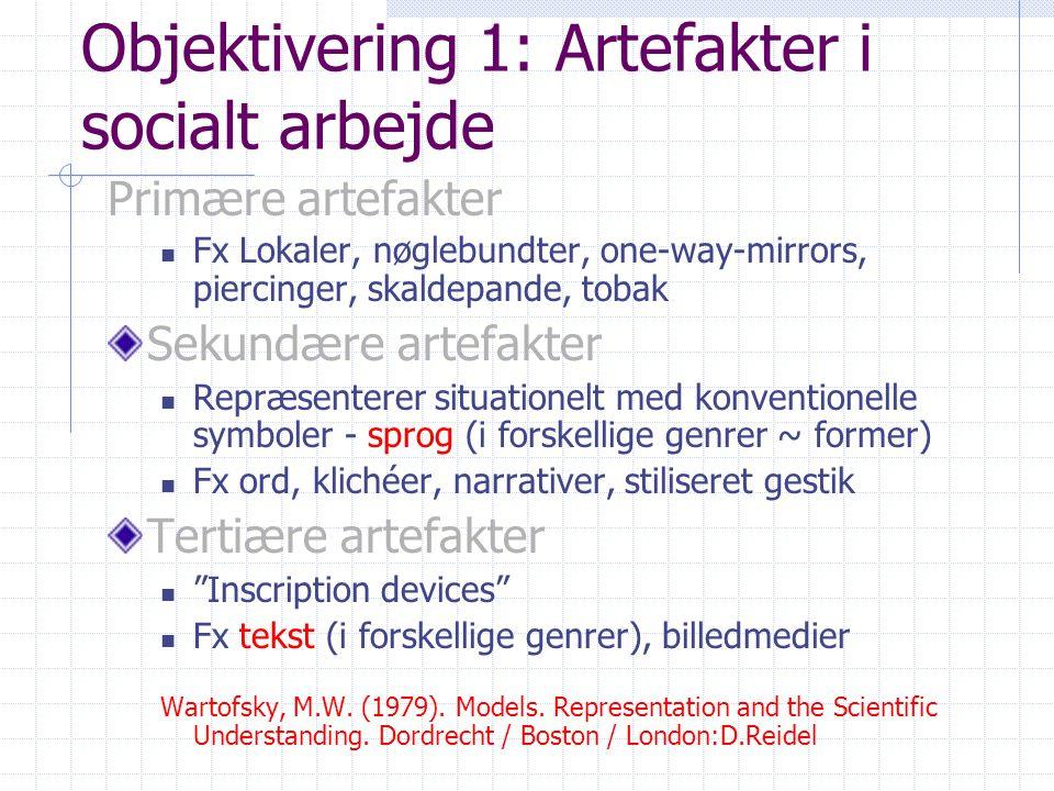 Objektivering 1: Artefakter i socialt arbejde