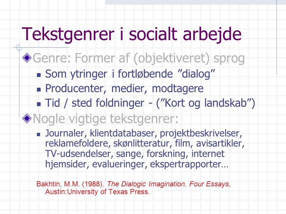 Tekstgenrer i socialt arbejde