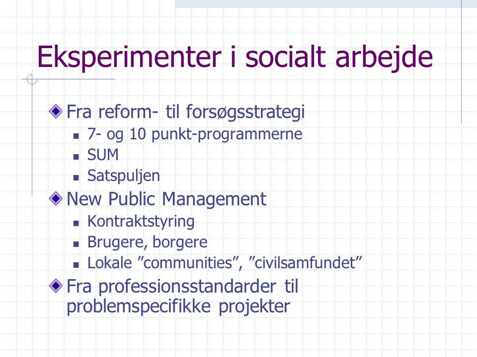 Eksperimenter i socialt arbejde
