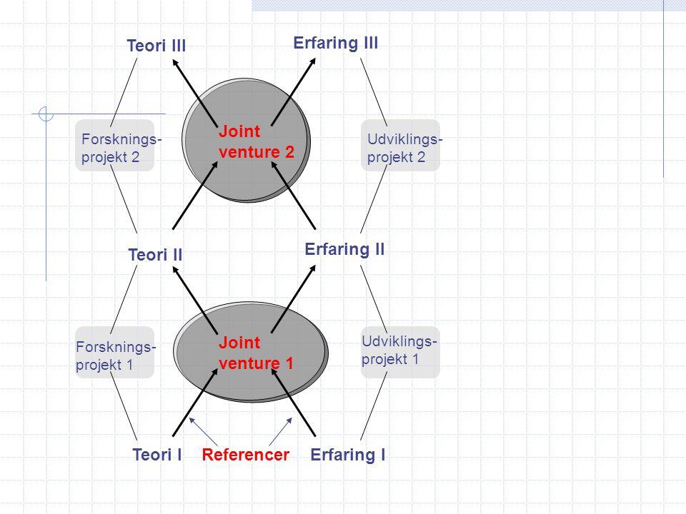 Teori III Erfaring III Joint venture 2 Erfaring II Teori II