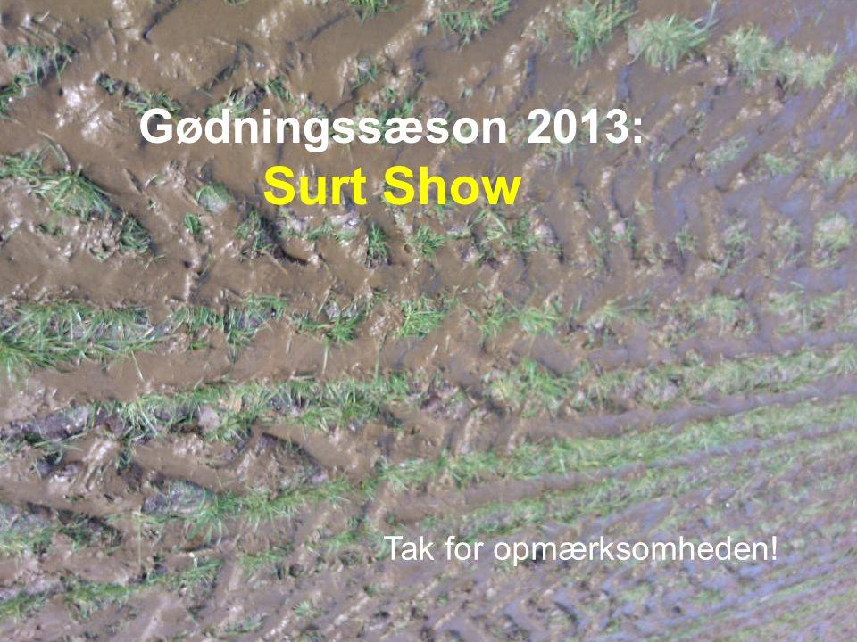 Gødningssæson 2013: Surt Show