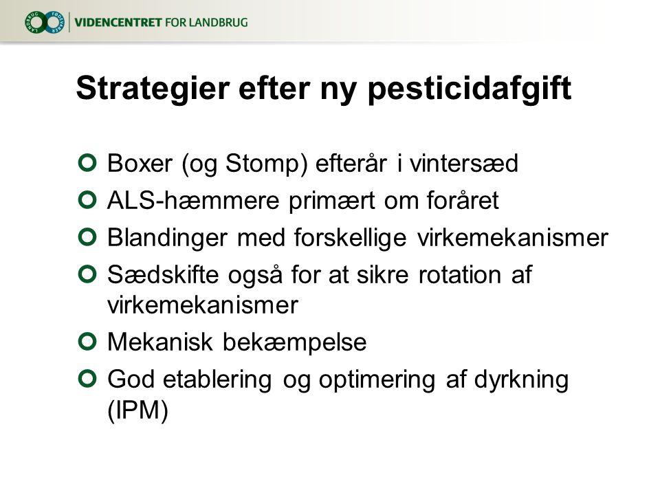 Strategier efter ny pesticidafgift