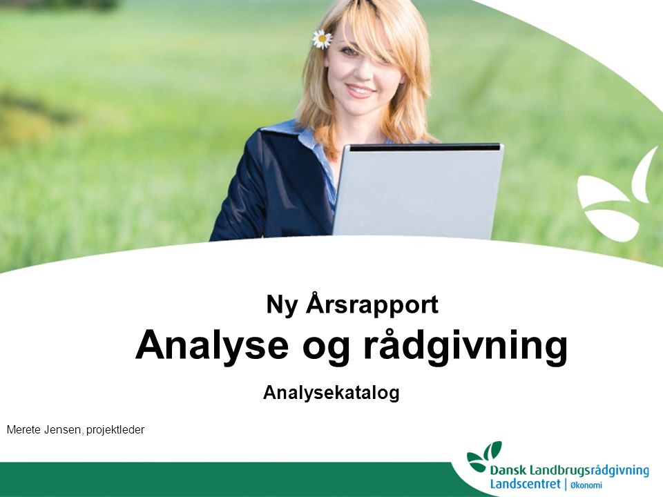 Ny Årsrapport Analyse og rådgivning