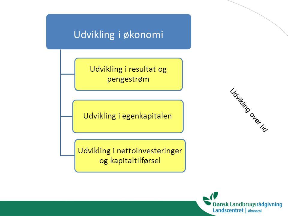 Udvikling i økonomi Udvikling over tid