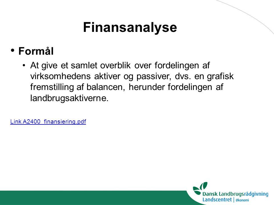 Finansanalyse Formål.
