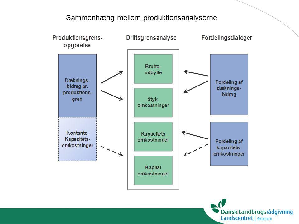 Sammenhæng mellem produktionsanalyserne