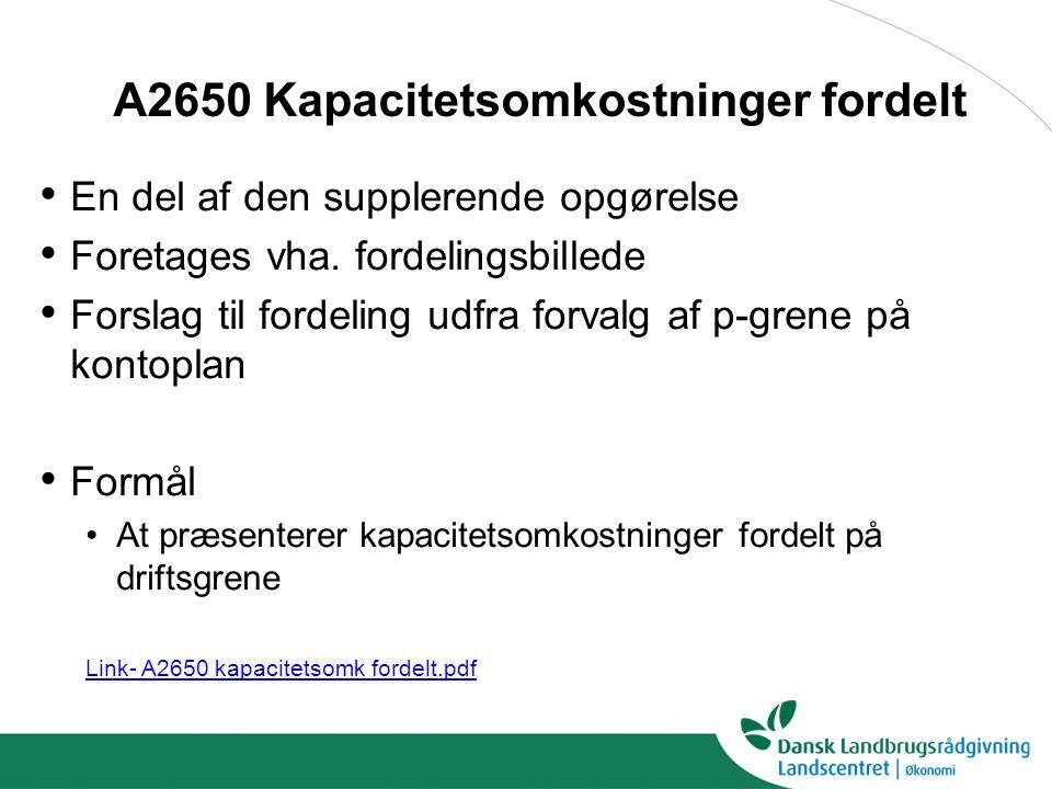 A2650 Kapacitetsomkostninger fordelt
