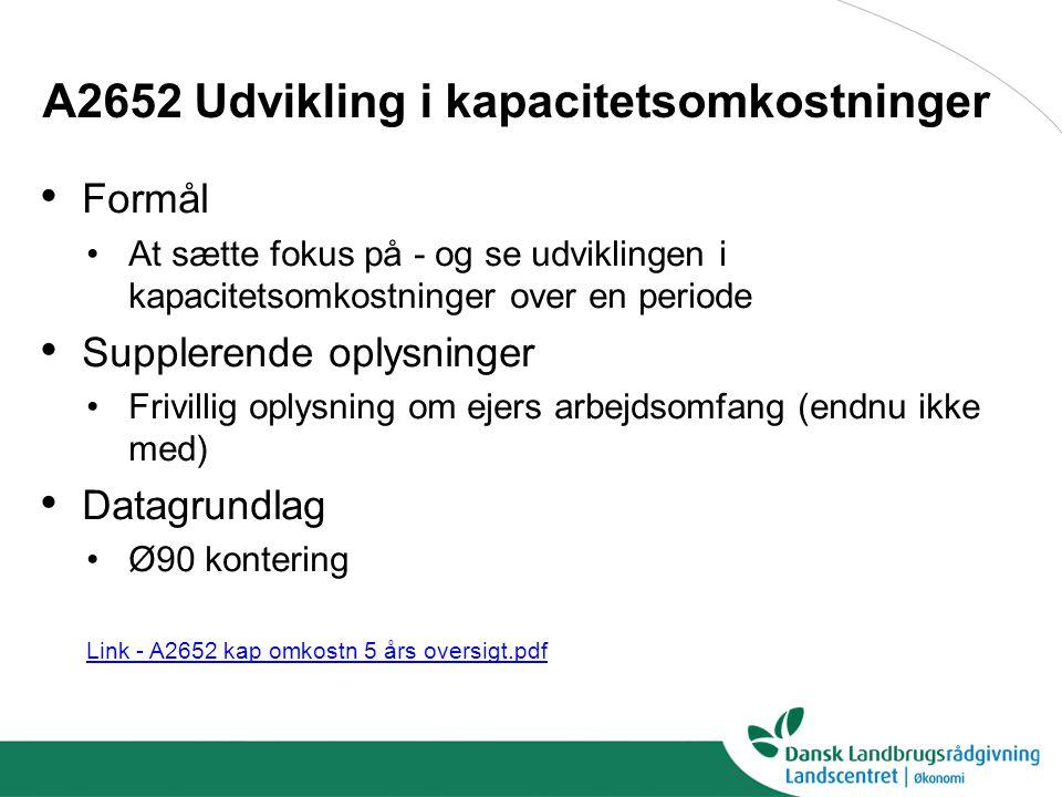 A2652 Udvikling i kapacitetsomkostninger
