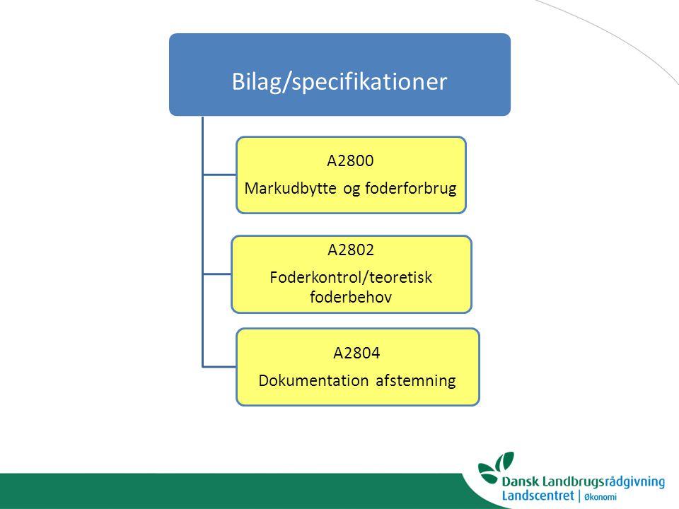 Bilag/specifikationer