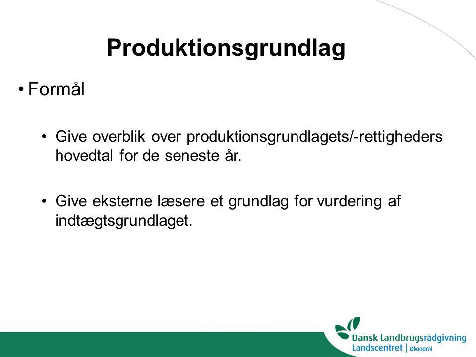 Produktionsgrundlag Formål