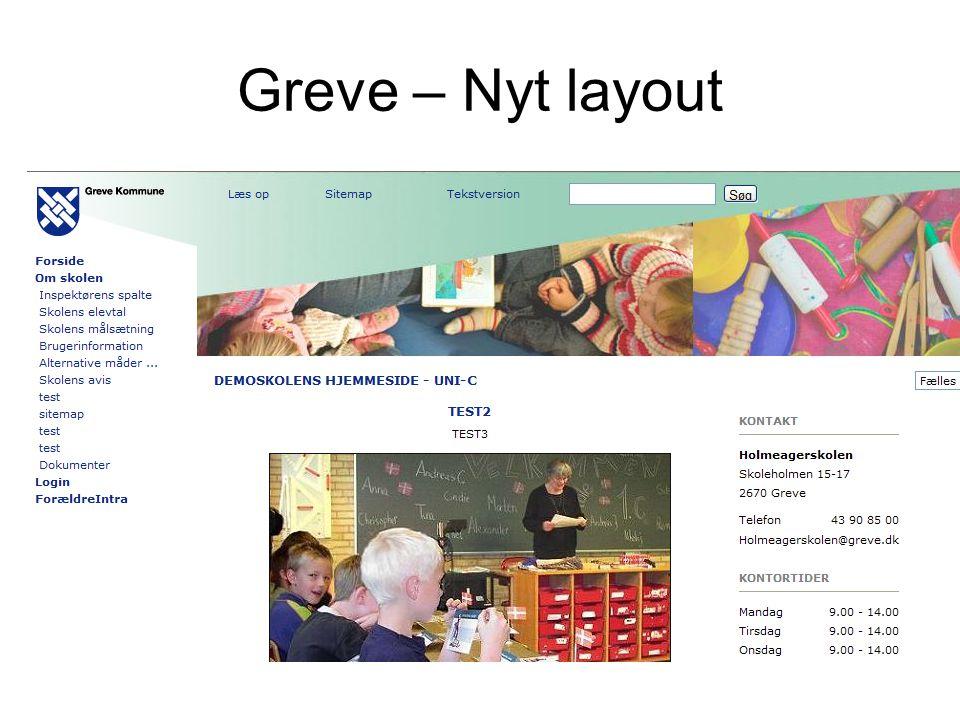 Greve – Nyt layout