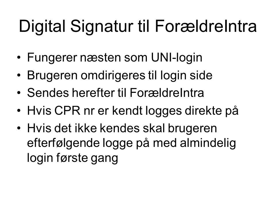 Digital Signatur til ForældreIntra