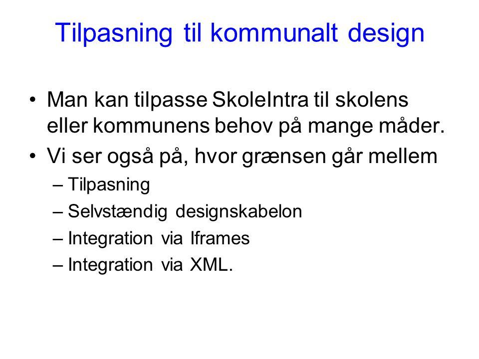 Tilpasning til kommunalt design
