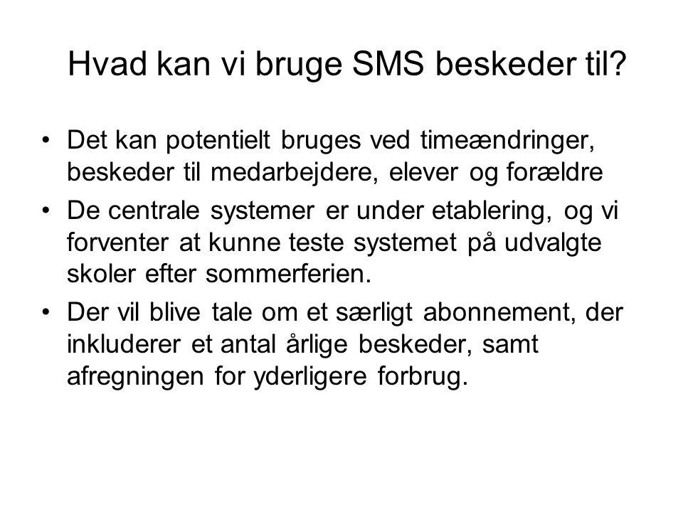 Hvad kan vi bruge SMS beskeder til
