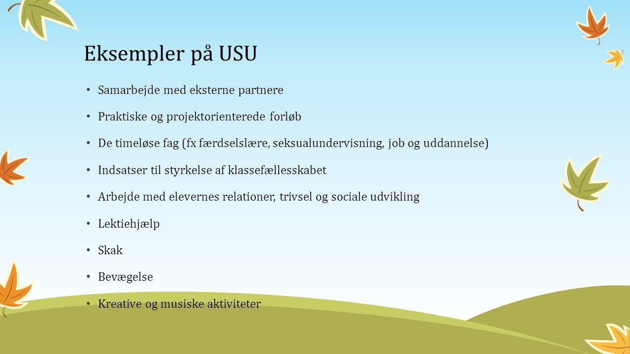 Eksempler på USU Samarbejde med eksterne partnere