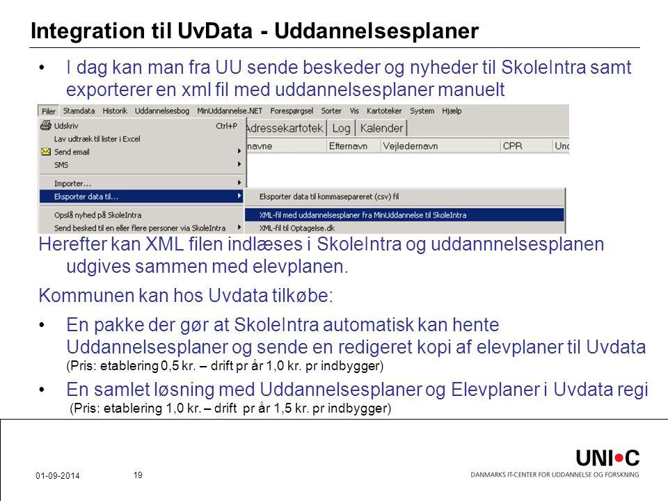 Integration til UvData - Uddannelsesplaner
