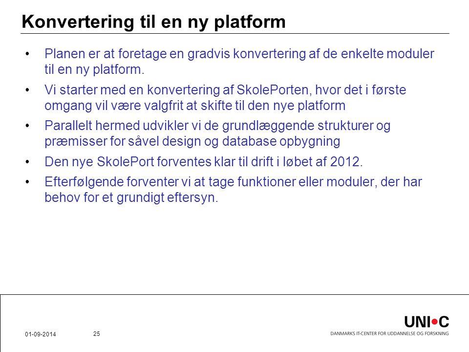 Konvertering til en ny platform