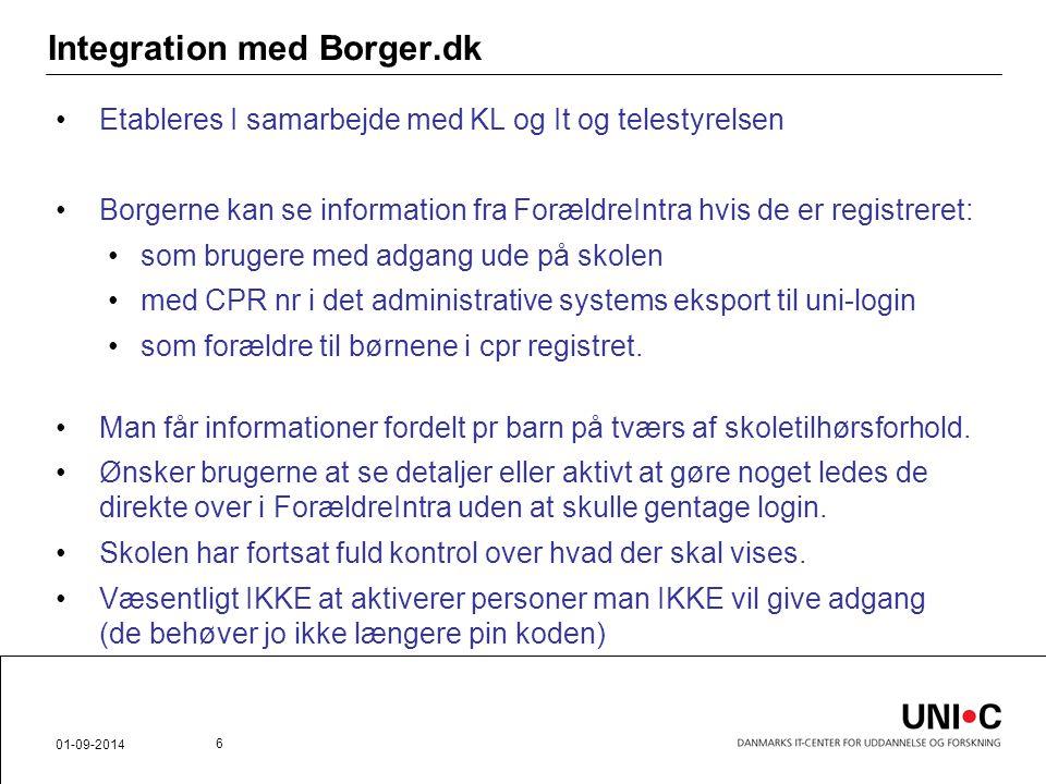Integration med Borger.dk