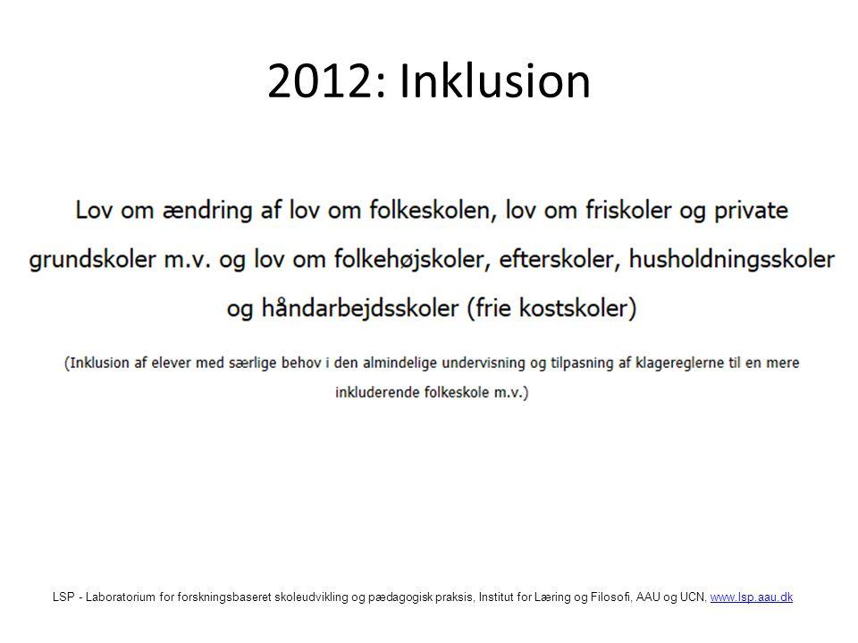 2012: Inklusion