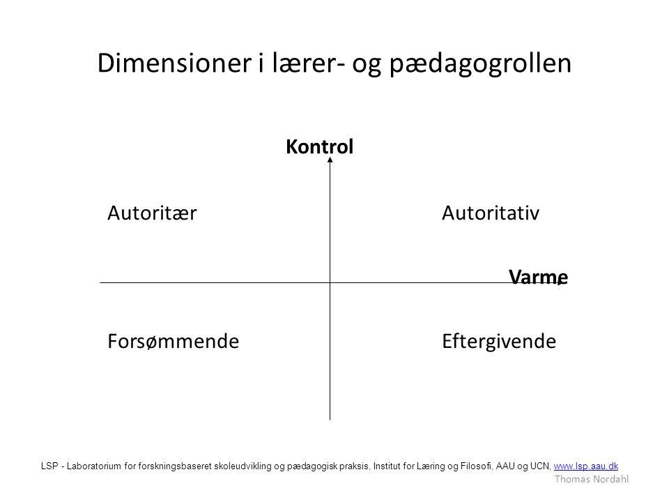 Dimensioner i lærer- og pædagogrollen