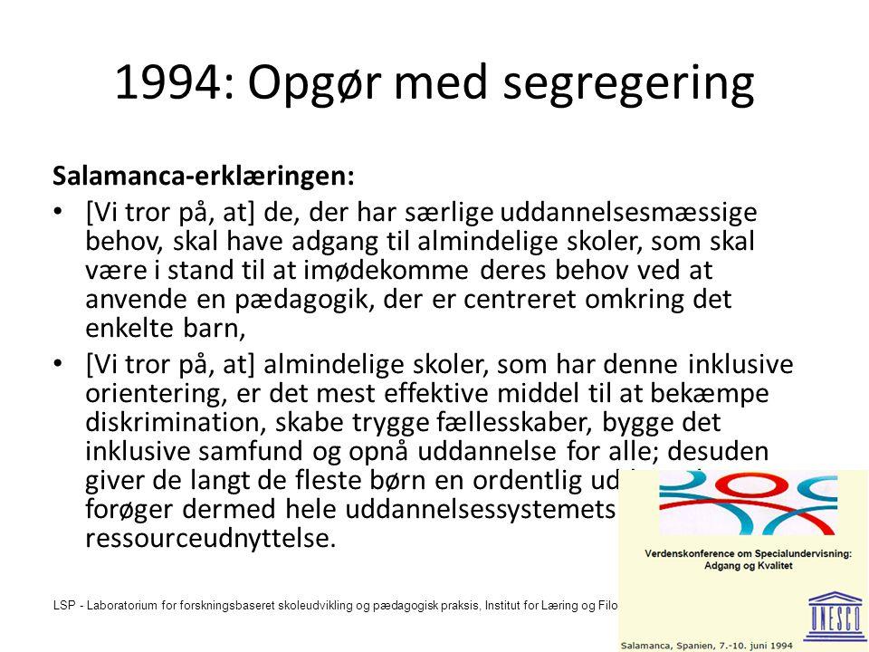 1994: Opgør med segregering