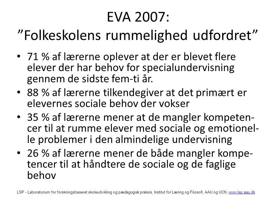 EVA 2007: Folkeskolens rummelighed udfordret