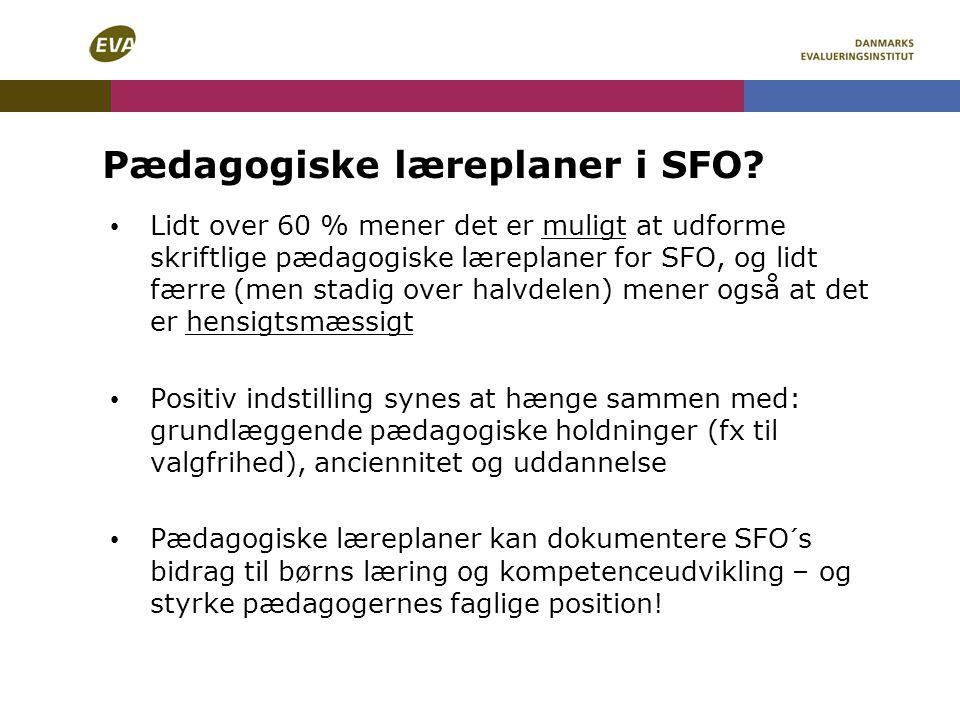 Pædagogiske læreplaner i SFO