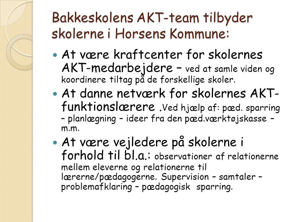 Bakkeskolens AKT-team tilbyder skolerne i Horsens Kommune: