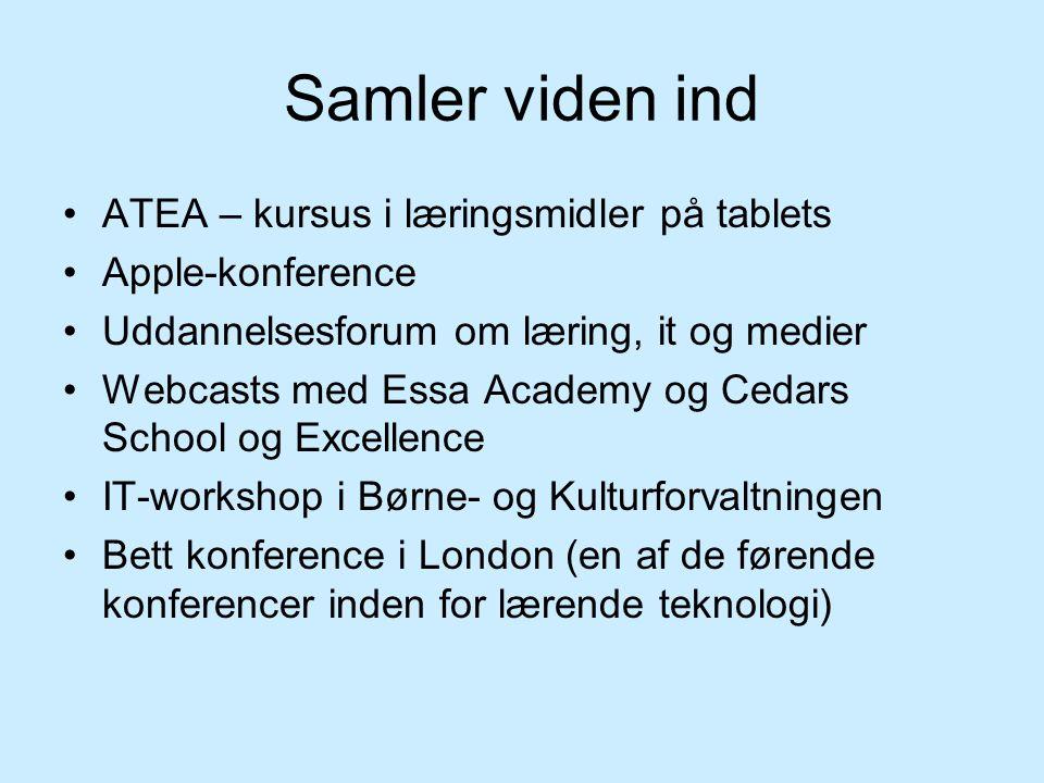 Samler viden ind ATEA – kursus i læringsmidler på tablets