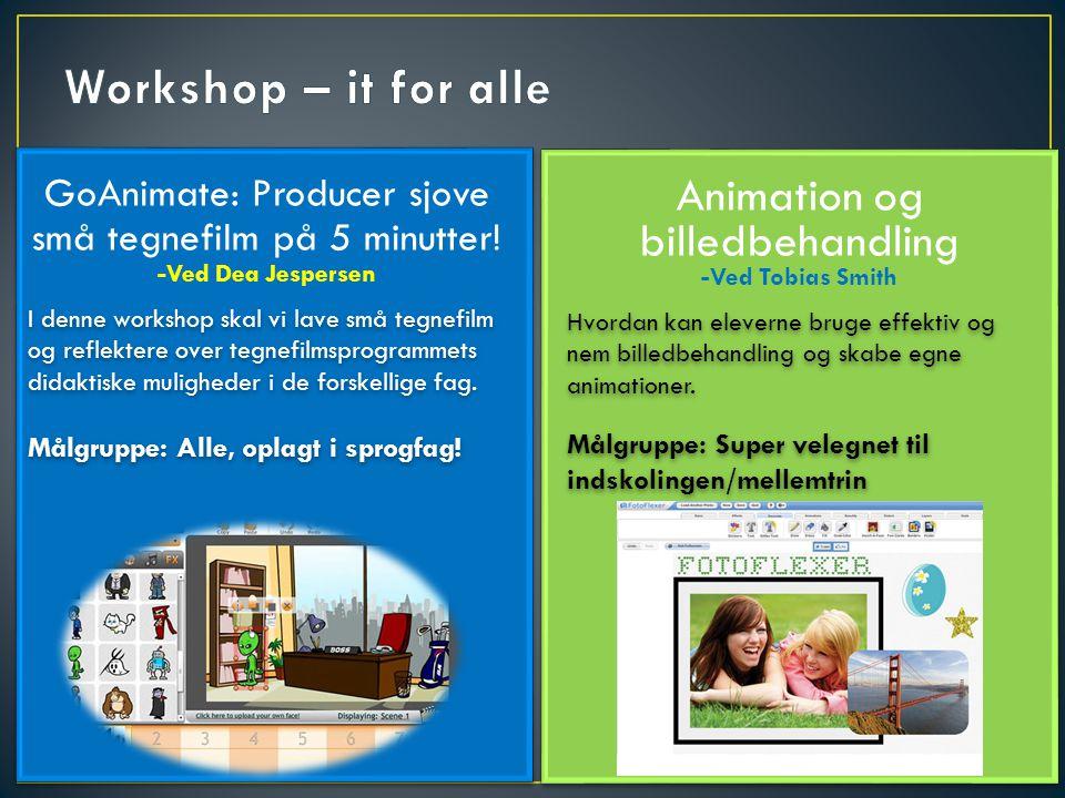 Animation og billedbehandling