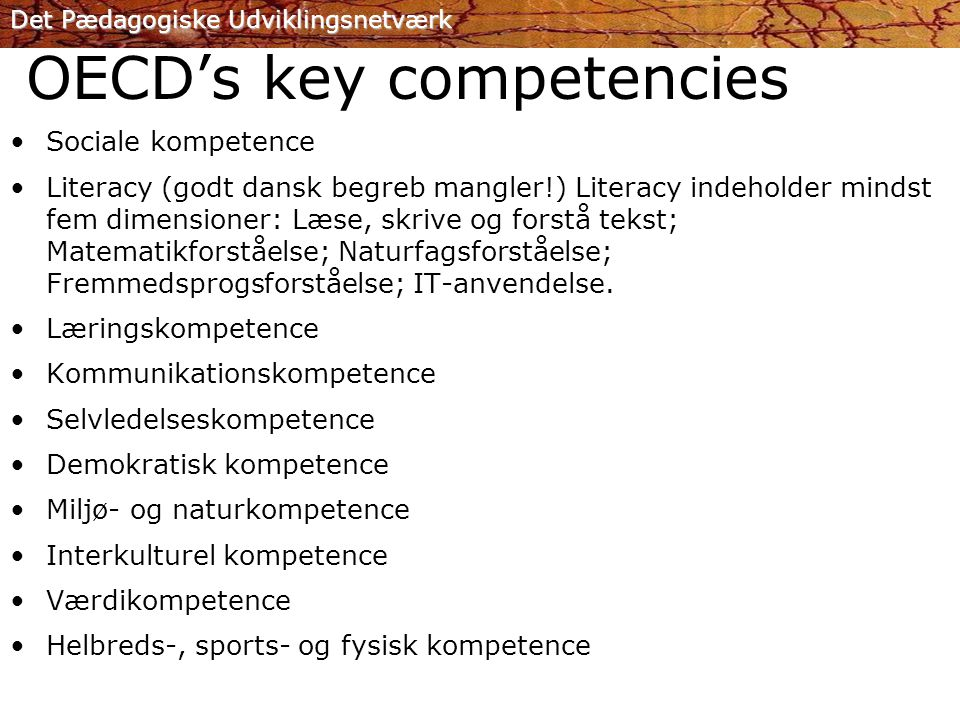 OECD's key competencies