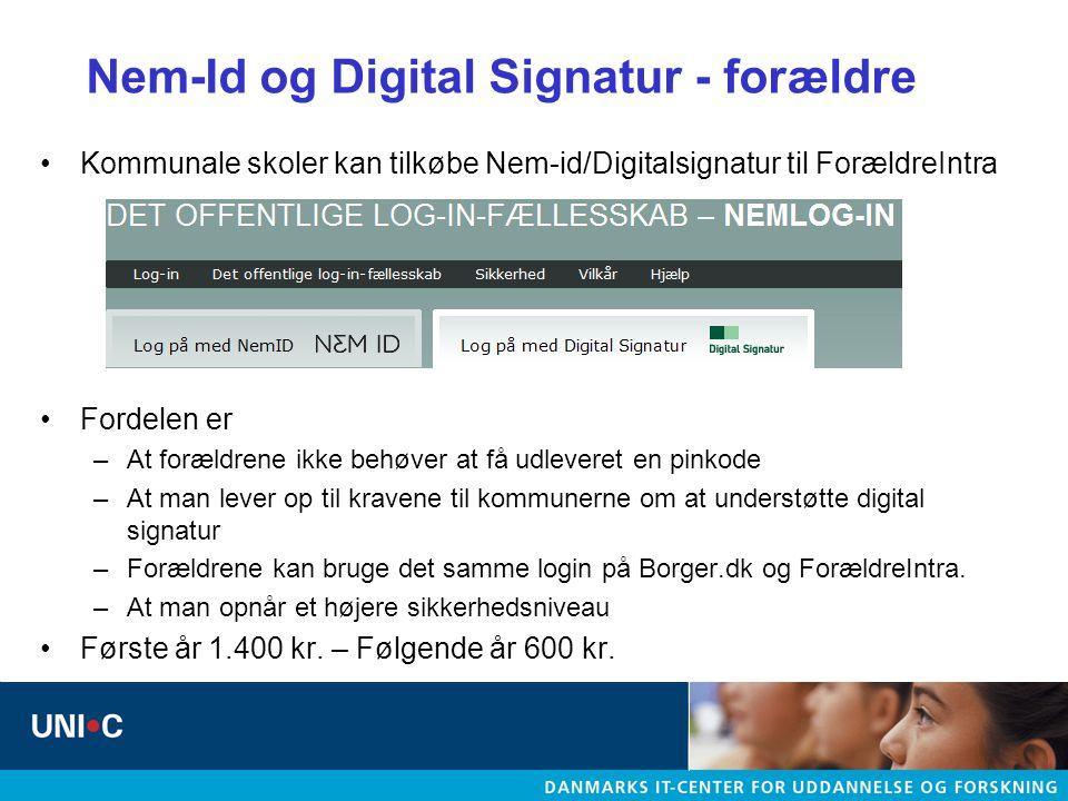 Nem-Id og Digital Signatur - forældre