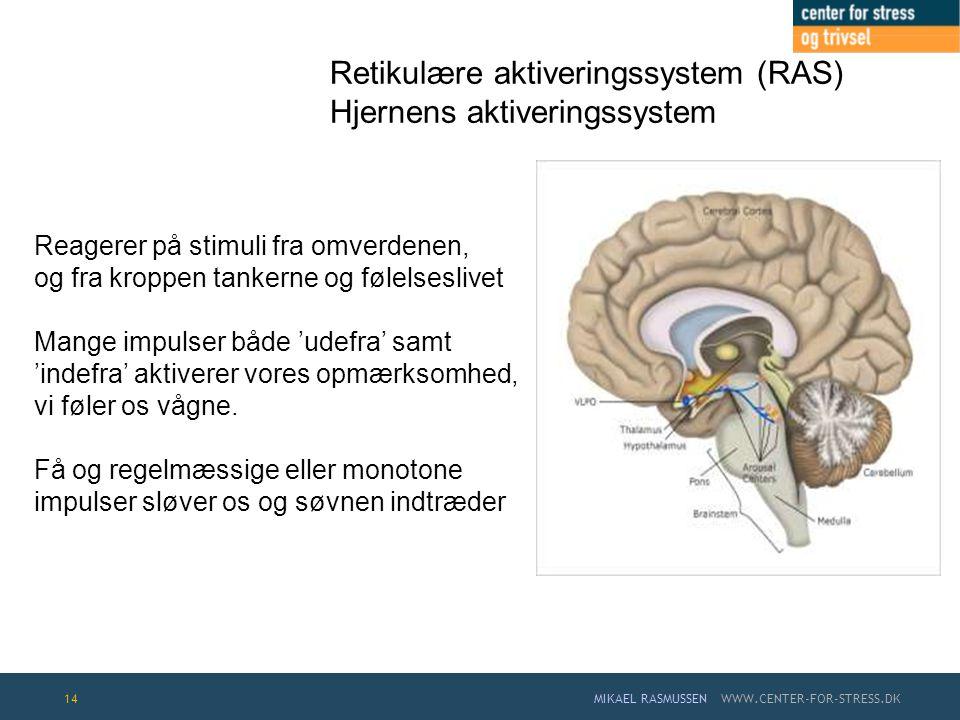 Retikulære aktiveringssystem (RAS) Hjernens aktiveringssystem