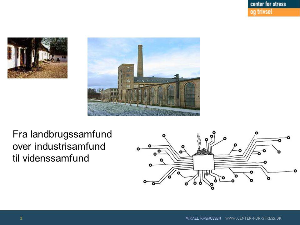 Fra landbrugssamfund over industrisamfund til videnssamfund