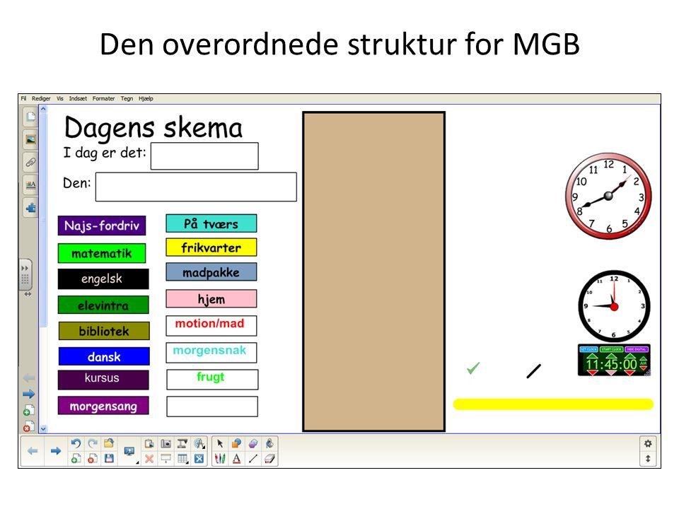 Den overordnede struktur for MGB
