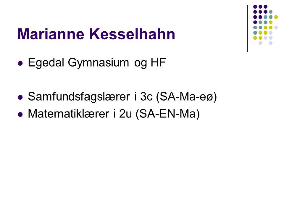 Marianne Kesselhahn Egedal Gymnasium og HF