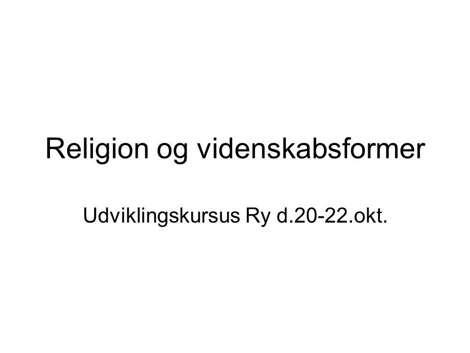 Religion og videnskabsformer