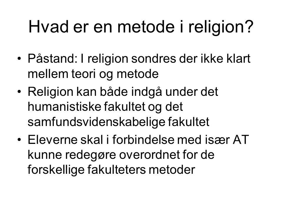 Hvad er en metode i religion