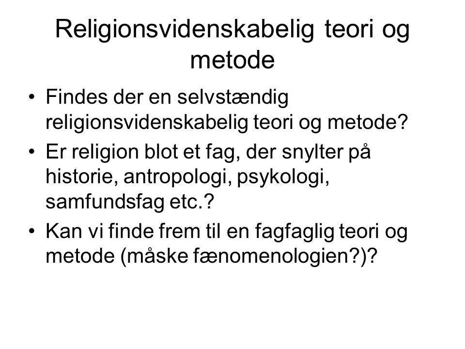 Religionsvidenskabelig teori og metode