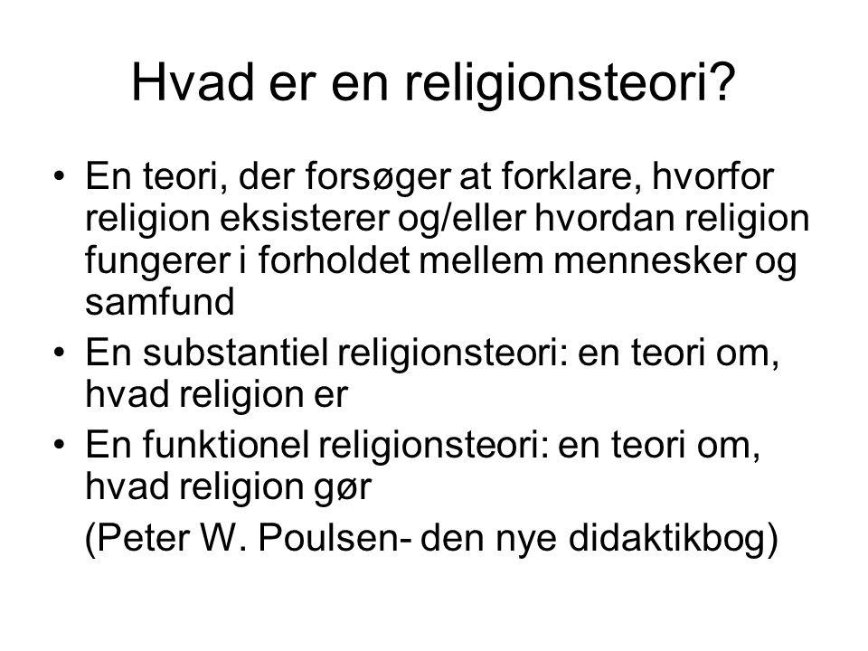 Hvad er en religionsteori