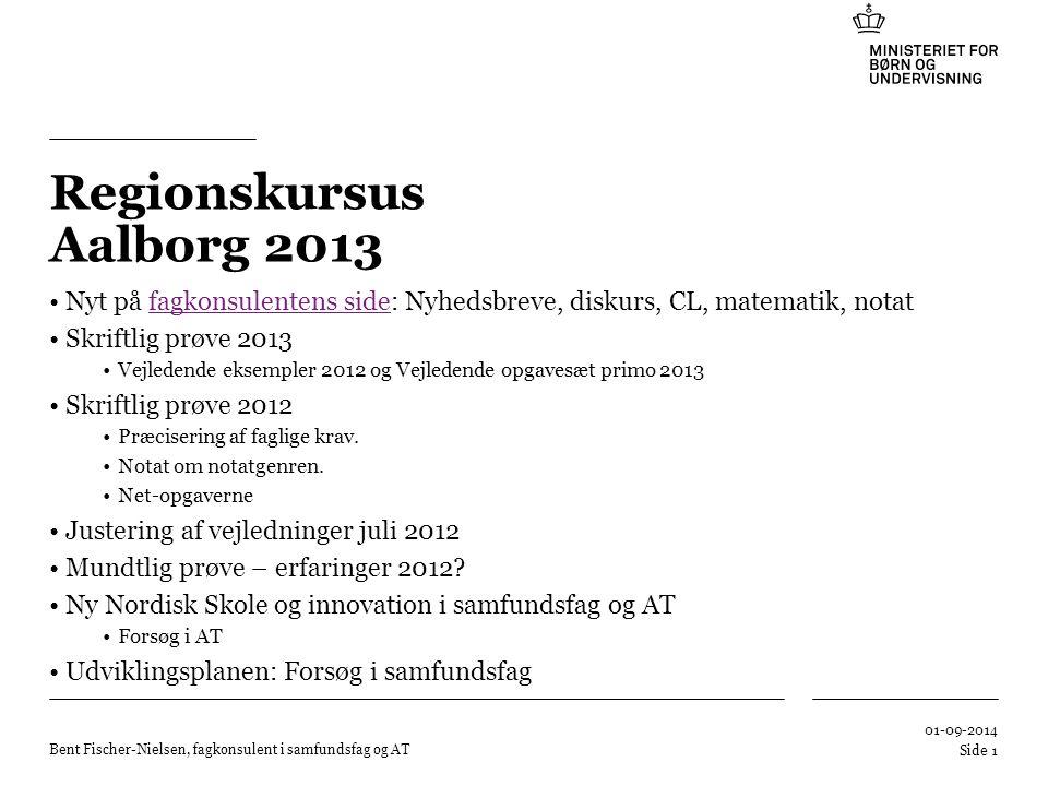 Regionskursus Aalborg 2013