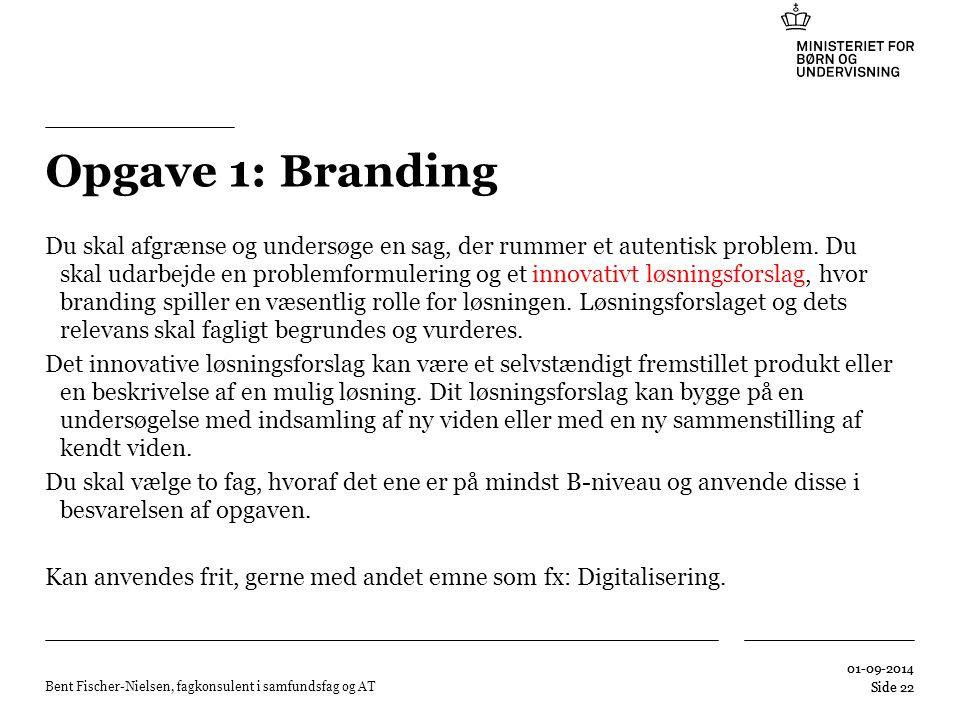 Opgave 1: Branding