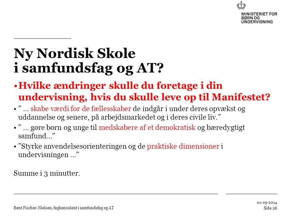 Ny Nordisk Skole i samfundsfag og AT