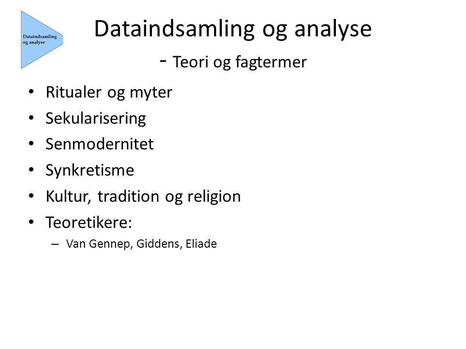 Dataindsamling og analyse - Teori og fagtermer