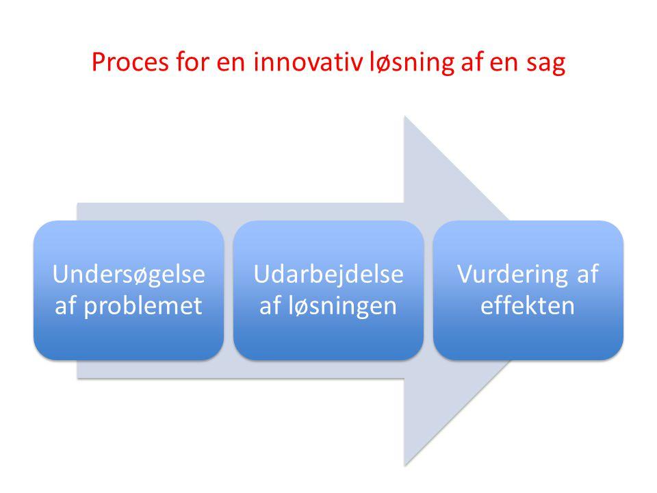 Proces for en innovativ løsning af en sag