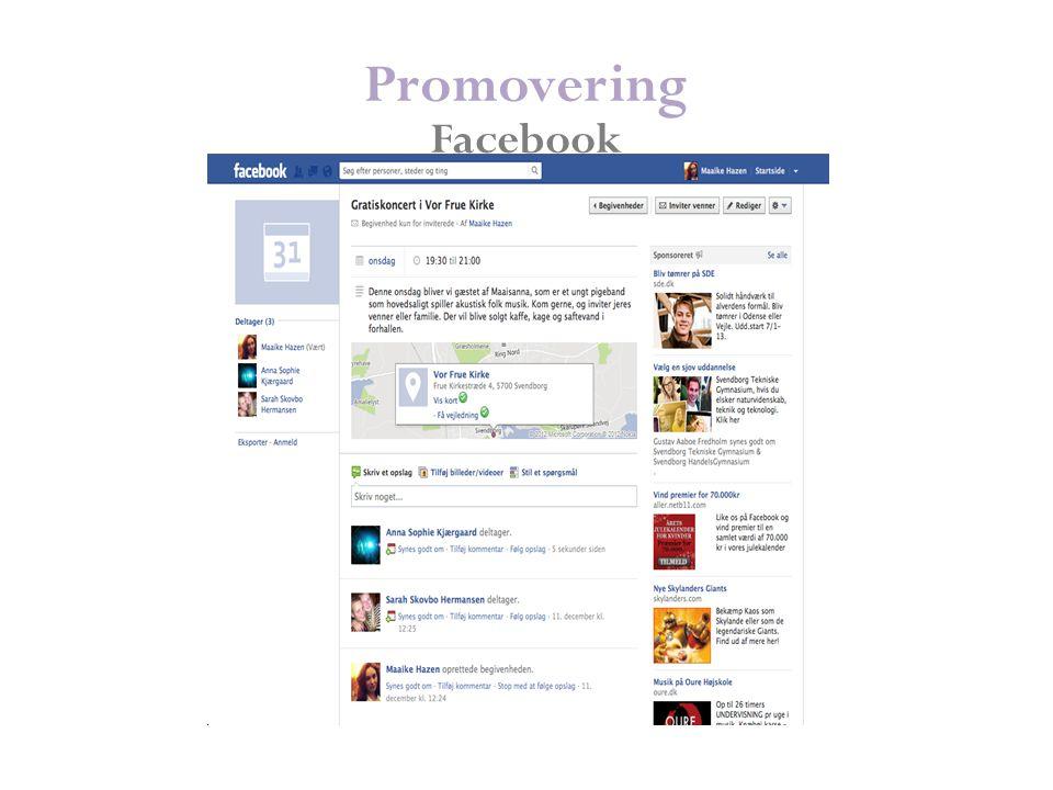 Promovering Facebook