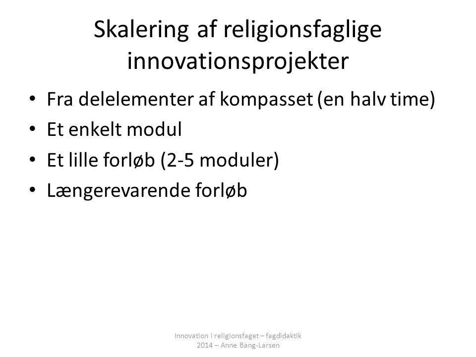 Skalering af religionsfaglige innovationsprojekter