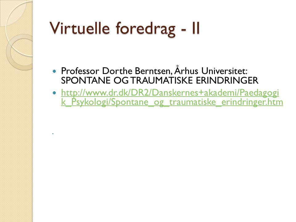 Virtuelle foredrag - II