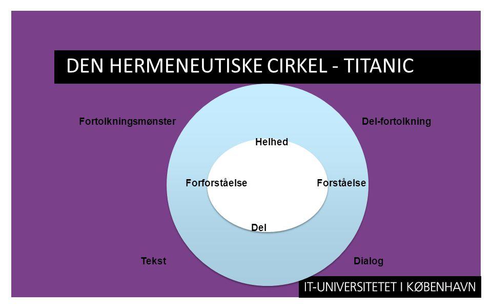 DEN HERMENEUTISKE CIRKEL - TITANIC